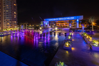 The Long Beach Convention & Entertainment Center is pleased to welcome back events! Pictured is the Long Beach Terrace Theater & Plaza, featuring dancing fountains, professional lighting, and many other turnkey assets for your next event.