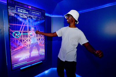 Visitors can book their free spot at Pepsi Pop Star where they'll record their dance performances in private dance pods featuring personalized, customizable avatars generated via selfie moving to professional routines.