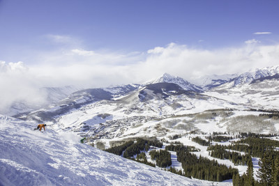 Snowboarding in fresh snow in Crested Butte, Colorado. Source: Ahearn