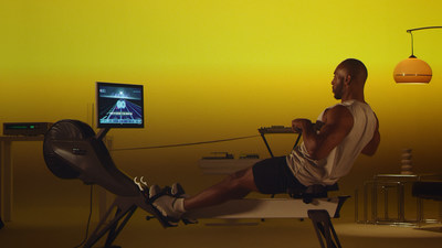 Aviron boasts unmatched program variety with hundreds of workout options including games and peer-to-peer live racing modules that torch more calories than swimming or running alone. (CNW Group/Aviron Interactive)