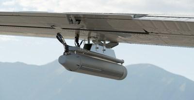 Picture of IMSAR's NSP-7 Blk II pod on MSA's King Air