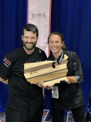Chef Denise Herrera and Sous Chef Eric LeBlanc of Red Heat Tavern Place Second at Great American Seafood Cook-Off in Louisiana