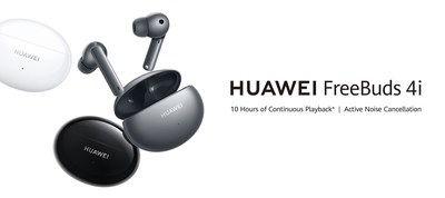 HUAWEI FreeBuds 4i in Ceramic White, Carbon Black and Silver Frost (CNW Group/Huawei Consumer Business Group)