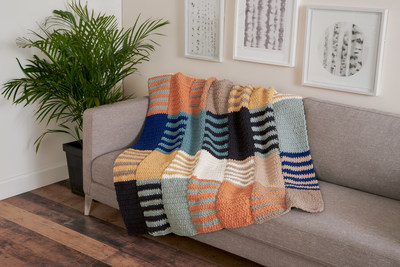 Consumers' favorite yarns in the O'GO format provide an opportunity for knitters of all skill levels to continue the trend of creating handmade home decor and accessories.