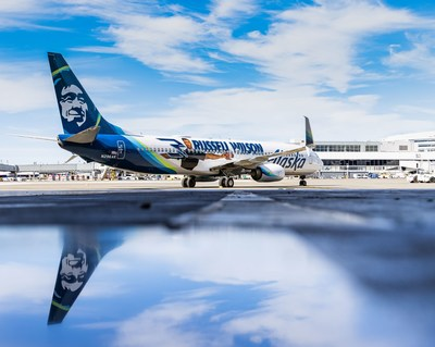 Russell Wilson scores a new Alaska Airlines Livery